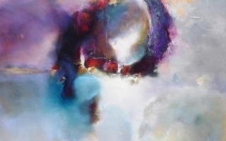Phoenix 100 x 100 cm oil/canvas