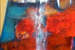 forgotten language, oil on canvas, 90x90cm