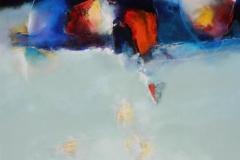 la reflexion, 140 x 140 cm oil/canvas