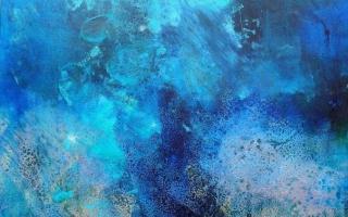 sous marine 90x90 cm oil/canvas