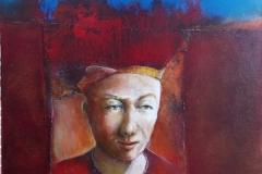 Perugian 50x50cm oil/canvas