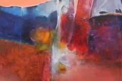 paysage passionat 90x90cm huile sur toile