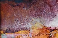 peach landscape 32 x 23 cm