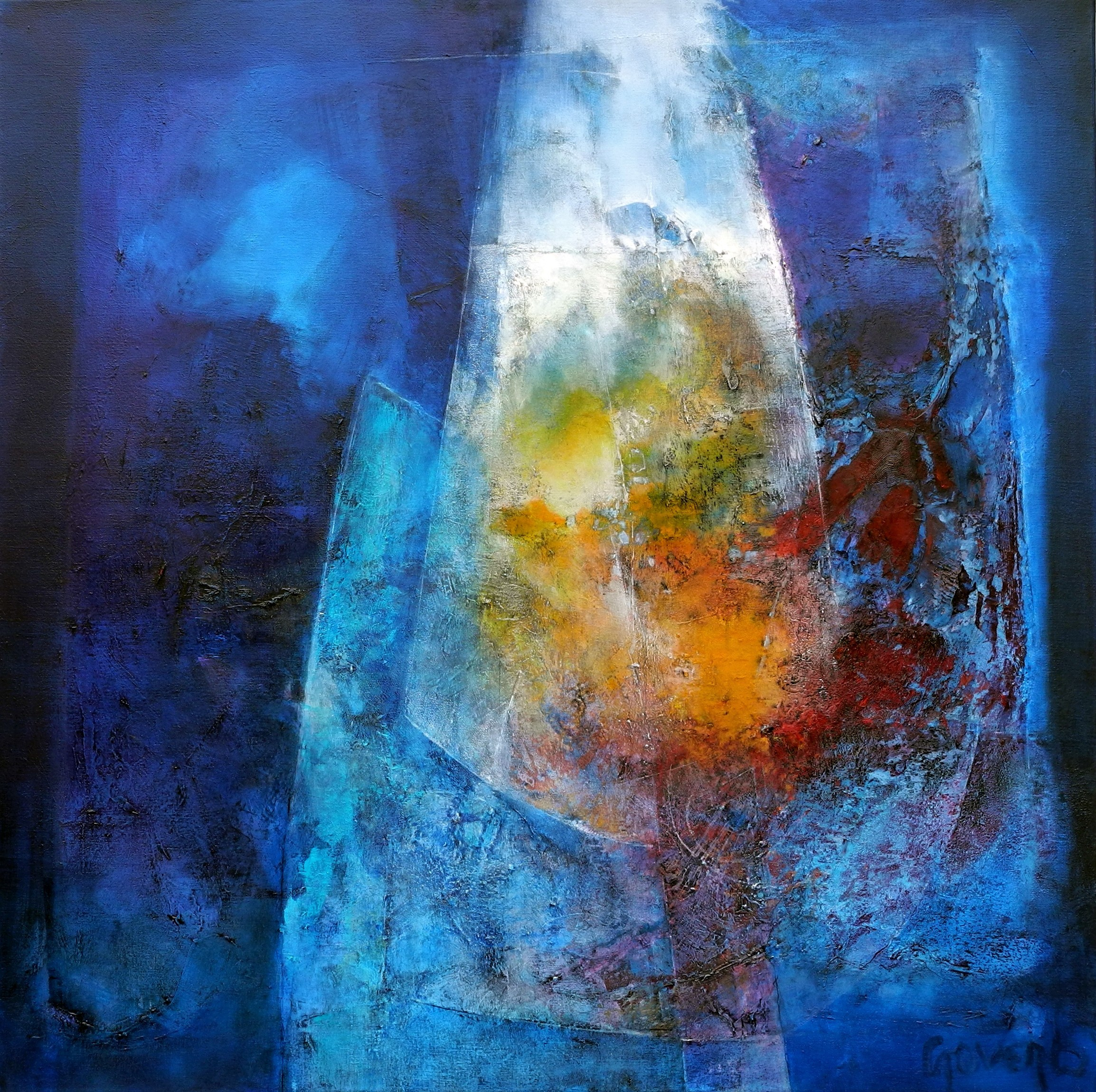rencontre-100x100cm-oil on canvas