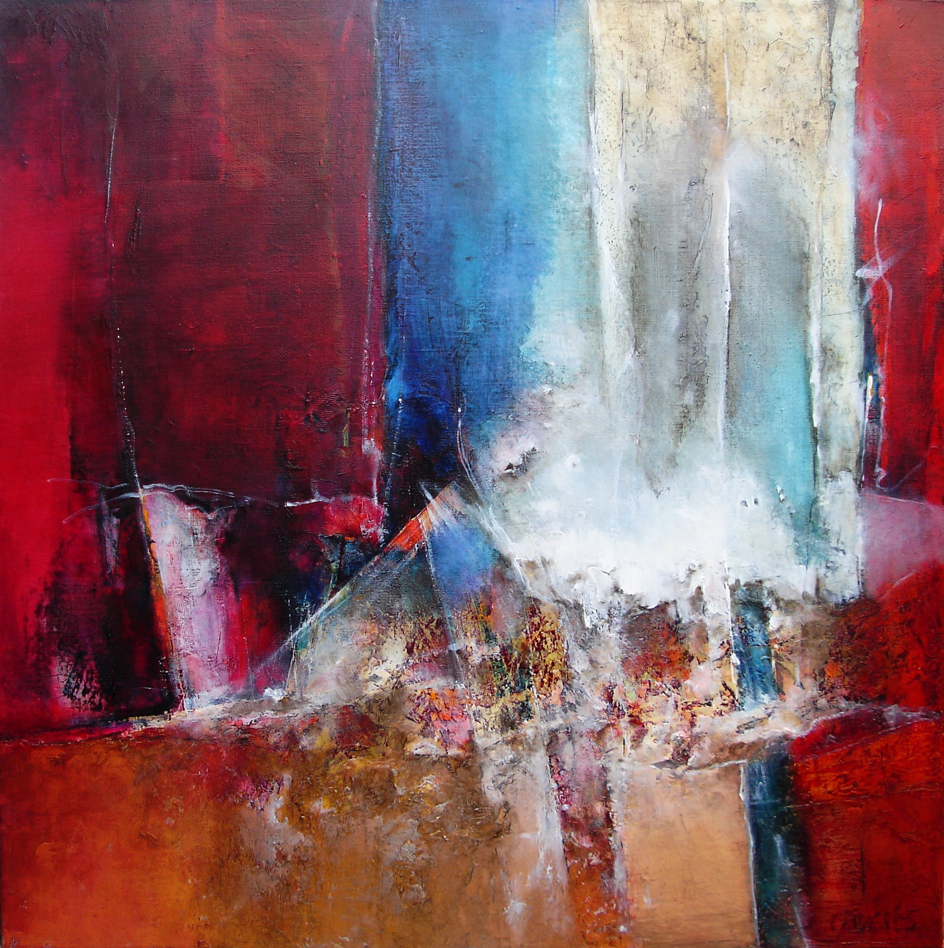 signe-de-vie-100x100cm-oil on canvas
